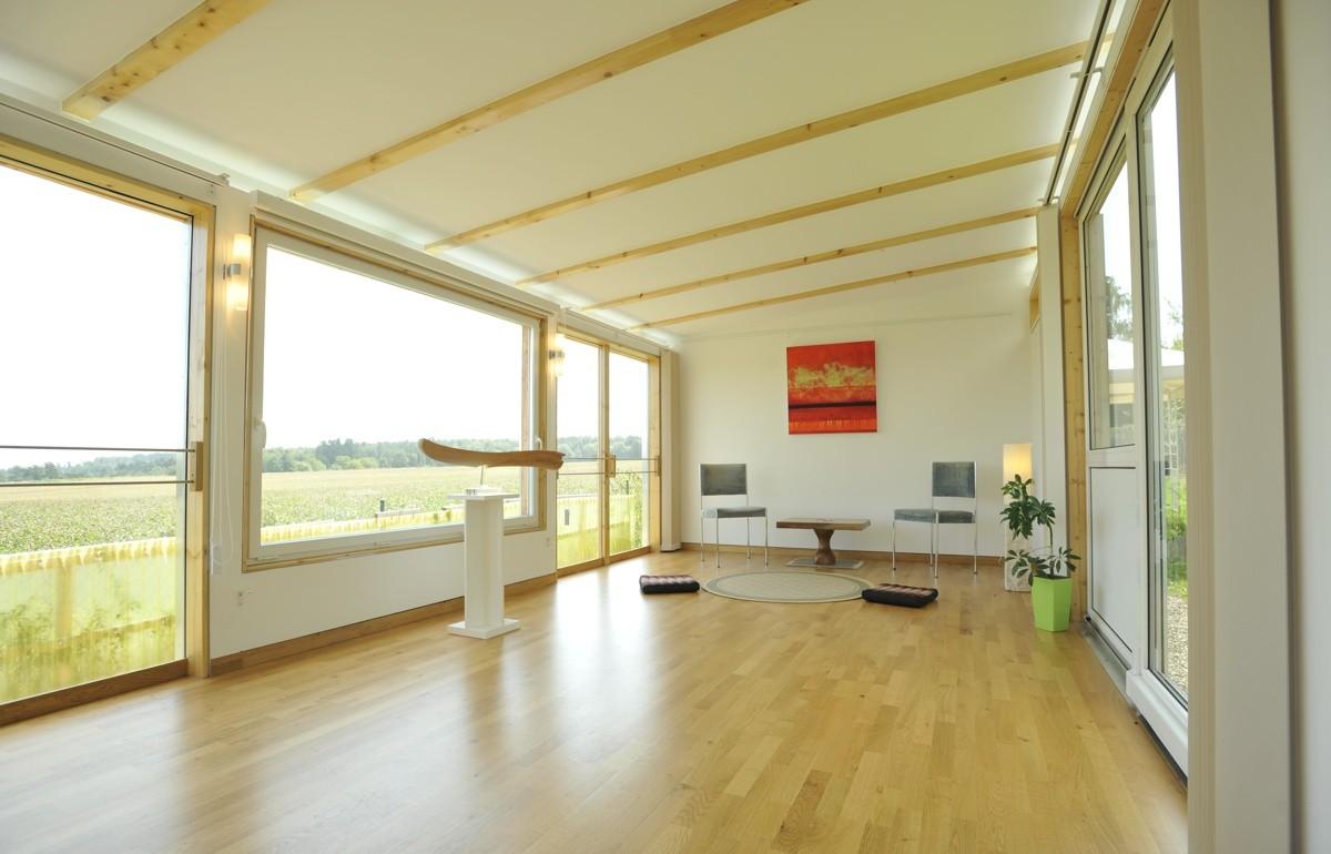 Kreativkopf Freiburg, Gartenpavillon, Entwurf, Visualisierung, Realisierung, Eichenholz, Fichtenholz, Glas